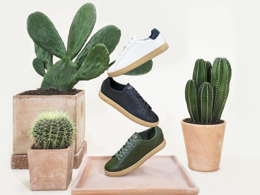 Tenis producidos con piel de cactus de origen 100% vegetal.